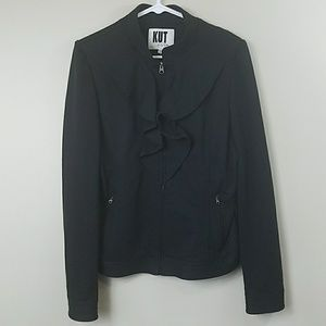 Kut from the Kloth Ruffle Front Jacket